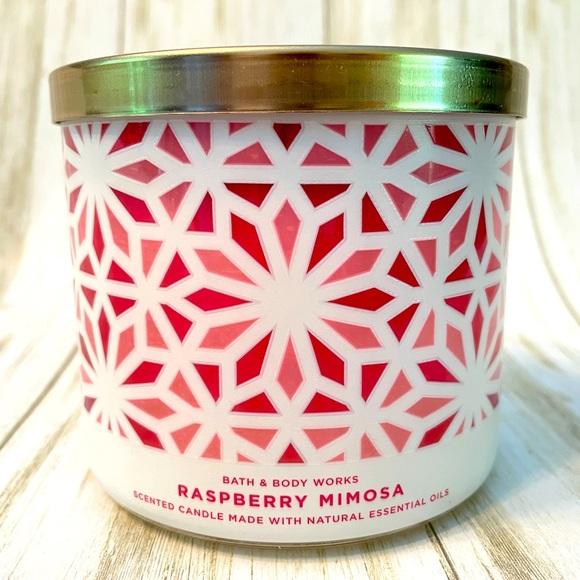 Raspberry Mimosa 3-wick Candle Bath & Body Works